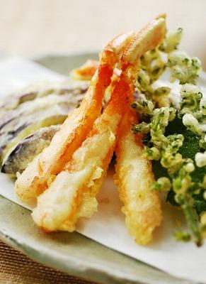 ずわい蟹の天ぷら